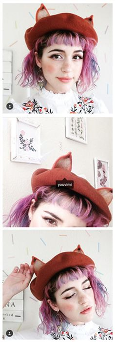 #2017 #lates #Asainfashion  #jfashion #harajuku #cute #kawaii #kfashion #onlinestore www.youvimi.com we are offer worldwide shipping US 7-15 delivery the other country 1-3 weeks to arrival in work day with tracking number,THE #FOXEARS #BERETS  Sponsor affiliate program open email youvimicute@gmail.com
