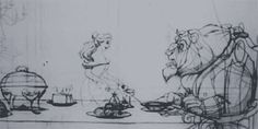 Beauty & the Beast pencil test #gif