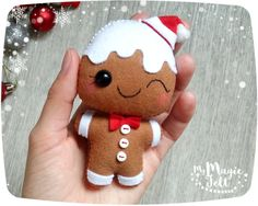 ★ATTENTION★ This item is Made to Order (4-6 WEEKS for making, shipping time about 2-3 weeks). Before Christmas the delivery time growing up +10-15 days, because the post offices are very busy. After October 25 I can not guarantee, that your purchase will be delivered before Christmas  Christmas Ornaments Felt Gingerbread man Christmas decorations felt Christmas tree ornaments Gingerbread Christmas party favors  Ornament has a loop for hanging (length about 3 inch).  ● Dimensions - about 4…