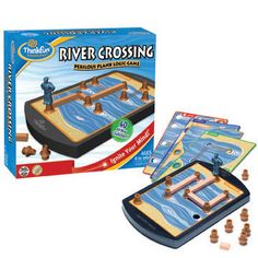 River Crossing | Think Fun. Easy entry to logic and spatial thinking. Not too young for college students (my math tutors played it while waiting for students to drop by for help).