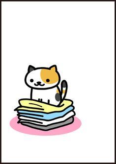 Cute Wallpaper Backgrounds, Cute Wallpapers, Neko Atsume Wallpaper, Neko Atsume Kitty Collector, Japanese Handwriting, Cute App, Cute Animal Photos, Kawaii Cat, Cat Boarding