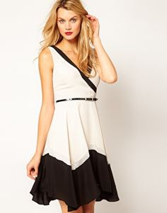 Coast Monochrome Belted Dress