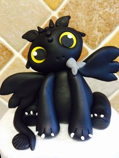 Night fury how to train your dragon cake topper
