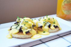 Quail Eggs Benedict with Pancetta and Brioche