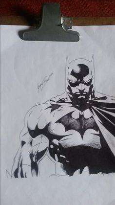 Batman, caneta Bic.