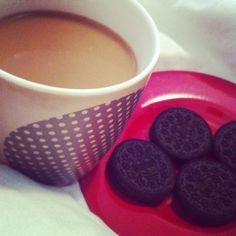 Oreos and coffee!