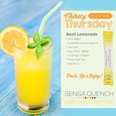 Pour Sip and Enjoy this delicious Basil Lemondade www.sensa.com