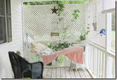love the idea for hammock on the porch..