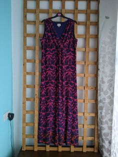 East Maxi Dress Holiday Summer Purple and Pink Size 16 (100) #EAST #Maxi #CasualTravel