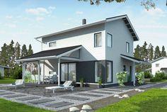 Selkeä pohjaratkaisu – Esko: 134m², 4 makuuhuonetta, 2-kerroksinen omakotitalo
