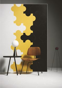 Indoor ceramic #wall / #floor tiles PROGETTO TRIENNALE by @Gayla Morrow Power #interiors #yellow