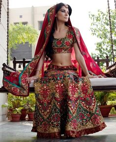 This lengha is so different, we haven't come across anything like this yet
