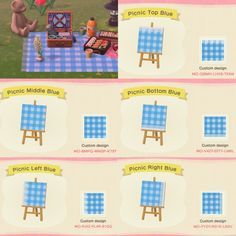 makay — realistic picnic blanket + various colors an. Animal Crossing 3ds, Animal Crossing Qr Codes Clothes, Animal Crossing Pocket Camp, Towel Animals, Ac New Leaf, Motifs Animal, Path Design, Sign Design, Pin On