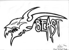 Brian 'The Beast' Brody Logo by on DeviantArt Beast Logo, Avengers, Moose Art, Deviantart, Logos, The Avengers, Logo, Legos