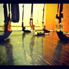 Aerial yoga at venturacircus.com