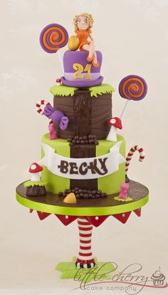 Charlie and the chocolate Factory / Willy Wonka Cake - Chocolate waterfall!!!