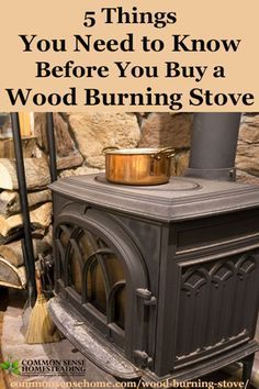 5 Things You Need to Know Before You Buy a Wood Burning Stove Before you buy a wood burning stove, know the facts about which wood to burn, wood storage, time and tools involved in wood heat for your home. Freestanding Fireplace, Cooking Stove, Cooking Oil, Cooking Light, Stove Fireplace, Fireplace Ideas, Rocket Stoves, Up House, Farm House