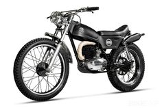 I don't think I've ever seen a customized trials motorcycle before. And they don't come with a much better pedigree than the Montesa Cota, the machine that won the 1968 Championship in trials-mad Spain. The bike in the images is a 1974 Cota 247 model, but it can trace its lineage back to the first…
