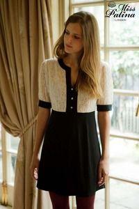 Miss Patina Ultra Chic Contrast Dress (Black)