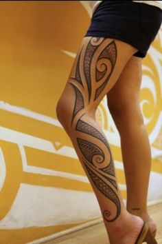 Maori style tattoo. I would like this for a sleeve.