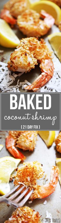 Baked Coconut Shrimp [21 Day Fix] - These crunchy, lightly breaded shrimp pack…