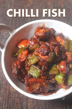Chilli Fish Dry Chilli Fish Recipe - Chilli Fish Dry Recipe - Easy Indo-Chinese Recipes Source by Indo Chinese Recipes, Chinese Food, Indian Food Recipes, Ethnic Recipes, Chinese Dinner, Asian Fish Recipes, Chinese Desserts, Japanese Recipes, Seafood Platter