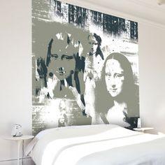 Papier peint de décoration pour la maison bleu Mona lisa - A l'oeuvre