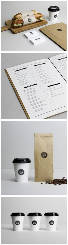 Minimalist design projects neatness and elegance. #restaurantgraphics