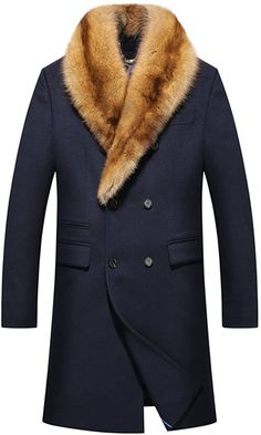 Tibetan blue cashmere fabric, (98% cashmere + 2% wool) the most luxurious! 100% US mink velvet lining The clothes are very soft and comfortable Slim effect! Natural horns buckle Removable mink collar Velvet Jacket Men, Mens Shearling Jacket, Fur Jacket, Leather Jacket, Man's Overcoat, Types Of Coats, Cashmere Fabric, Men's Coats And Jackets, Mink Fur
