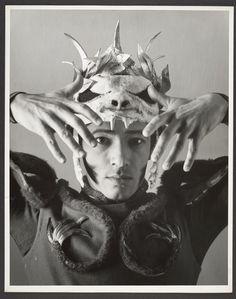Dancer in Costume with Animal Skull Headpiece  photo by George Platt Lynes, 1940s