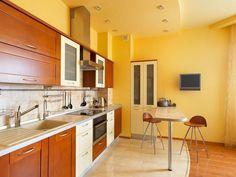 Gipszkarton álmennyezet ötletek konyhában - forma, világítás, variációk