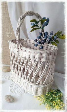 Купить Плетеная корзина ажурная 'French charm' в интернет магазине на Ярмарке Мастеров