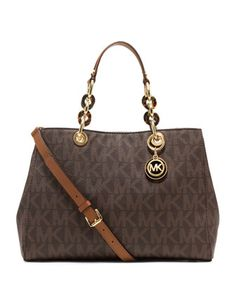 $318.00 Medium Cynthia Logo Satchel - MICHAEL Michael Kors