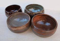 Ceramic Snack Bowls // Set of 4 Pottery Bowls // by KismetPottery, $40.00