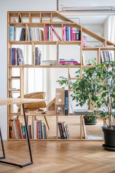 Another Studio's workspace is located in the apartment building in Lubotran St., also designed by the studio. Refinish Wood Furniture, Design Japonais, Farmhouse Side Table, Buying A New Home, Co Working, Working Area, Home Upgrades, Small Apartments, Land Scape