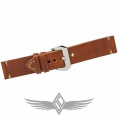 Custom Brown Leather Minimal Stitch 24mm X 24mm Watch Strap for Panerai Watches