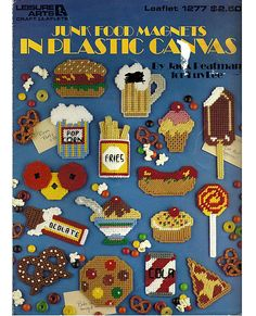 Junk Food Magnets in Plastic Canvas Pattern by grammysyarngarden, $3.00