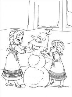 Coloriages et activités de la Reine Des Neiges (Disney – Frozen)