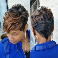 8 Fabulous Tricks Can Change Your Life: Everyday Hairstyles Updo black women hairstyles.Funky Hairstyles For 40 Year Olds women hairstyles over 40 long hair. Short Black Haircuts, Black Girls Hairstyles, Pixie Hairstyles, Short Hair Cuts, Pixie Haircuts, Teenage Hairstyles, Yorkie Haircuts, Brunette Hairstyles, Simple Hairstyles