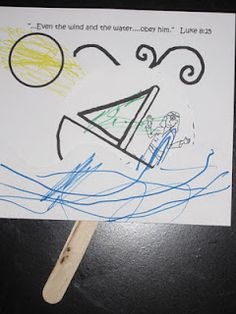 """Easy craft and activity ideas for the story of """"Jesus Calms the Storm."""" Perfect for young kids."""