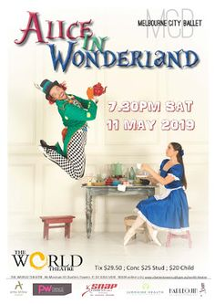 World Theatre Charters Towers Ballet Books, World Theatre, The Cheshire, City Ballet, Important Dates, Towers, Alice In Wonderland, Search, Tours