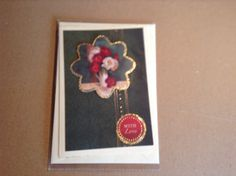 A6 card made with Hunkydory toppers and card stock