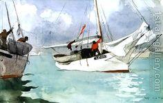 """Fishing Boats, Key West"" by Winslow Homer"