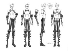 PS2 Tech Girl Turn by samliu.deviantart.com on @deviantART