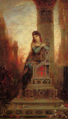 "k-art-history: "" Desdemona Gustave Moreau - circa 1875 "" Classical Art, Modern Art, Art Painting, Fine Art, Oriental Art, French Art, Painting, Beautiful Paintings, Symbolist"
