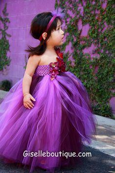 Limited Eggplant and Purple TuTu Dress por giselleboutique en Etsy, $85,00