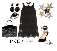 """""""Peep-Toe Perfection"""" by coolmommy44 ❤ liked on Polyvore featuring Dolce&Gabbana, Christian Louboutin, Yves Saint Laurent, Pomellato, Anderson's Belts, peeptoe and polyvorecontest"""