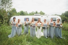 In LOVE with this bridesmaid photo. Photo by Krista Lee, From Cassie + Chris' wedding at Cedarwood, Nashville TN #airstream #wedding