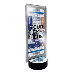 2014 NHL Stadium Series Desktop Ticket Display Stand - New York Islanders vs. New York Rangers, Multicolor