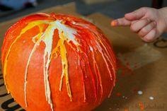 Melted Crayon Pumpkins: No-Carve Pumpkin Decorating with Kids!